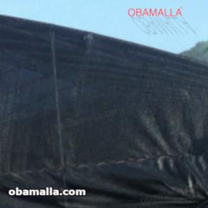 casa sombra hecha con malla de sombreamiento negra OBAMALLA