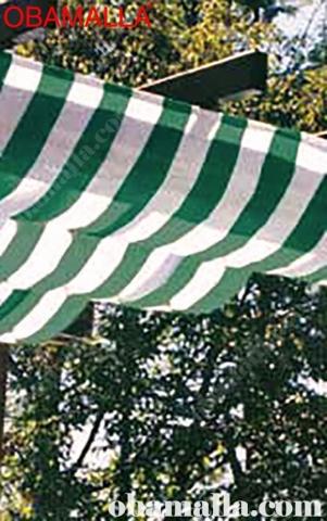 red de sombreo bicolor colocada para la protección contra el sol.